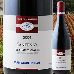 サントネ・レ・シャン・クロード ドメーヌ・ジャン・マルク・ピヨ 2004年 フランス ブルゴーニュ 赤ワイン フルボディ 750ml
