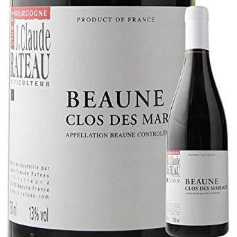 ボーヌ・クロ・デ・マリアージュ・ルージュ ジャン・クロード・ラトー 2017年 フランス ブルゴーニュ 赤ワイン ミディアムボディ 750ml
