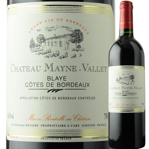 シャトー・メイヌ・ヴァレ プルミエール・コート・ド・ブライ 2014年 フランス ボルドー 赤ワイン フルボディ 750ml