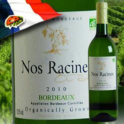 ノ・ラシーヌ・ブラン ヴィニョーブル・レイモン 2010年 フランス ボルドー 白ワイン 辛口 750ml