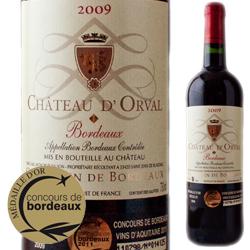 シャトー・ドルヴァル 2009年 フランス・ボルドー 赤ワイン フルボディ 750ml
