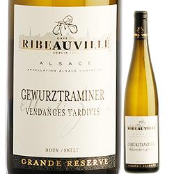 ゲヴュルツトラミネール・ヴァンダンジュ・タルティヴ カーヴ・ド・リボヴィレ 2007年 フランス アルザス 白ワイン 極甘口 500ml