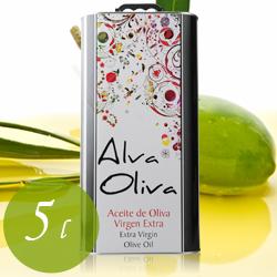 アルヴァ・オリーヴァ・ティン オレイコラ・アルヴァレス 5L スペイン アンダルシア エクストラヴァージン・オリーブオイル 5000ml