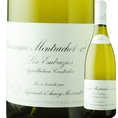 シャサーニュ・モンラッシェ・プルミエ・クリュ・レ・ザンブラゼ メゾン・ルロワ 2008年 フランス ブルゴーニュ 白ワイン 辛口 750ml
