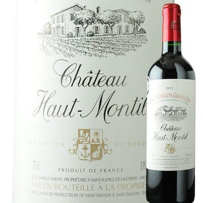 シャトー・オー・モンティル UDPサン・テミリオン 2012年 フランス ボルドー 赤ワイン フルボディ 750ml