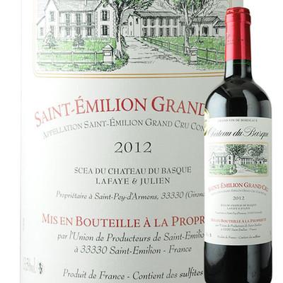 シャトー・デュ・バスク UDPサン・テミリオン 2012年 フランス ボルドー 赤ワイン フルボディ 750ml